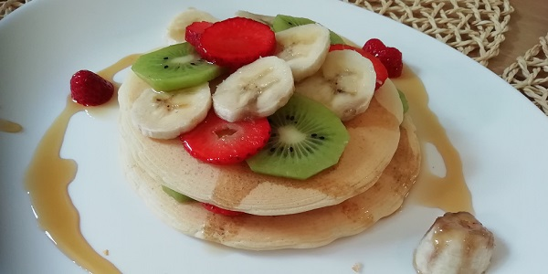 pancake con frutta