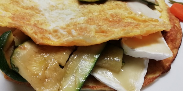 omelette zucchine e brie